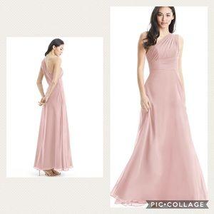 NWT! Azazie Ashley one shoulder dusty rose dress!